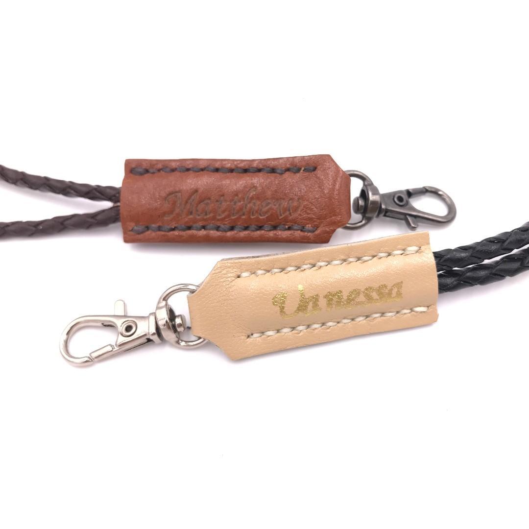 (客製分享圖) 全手工 真皮 證件套掛頸織繩