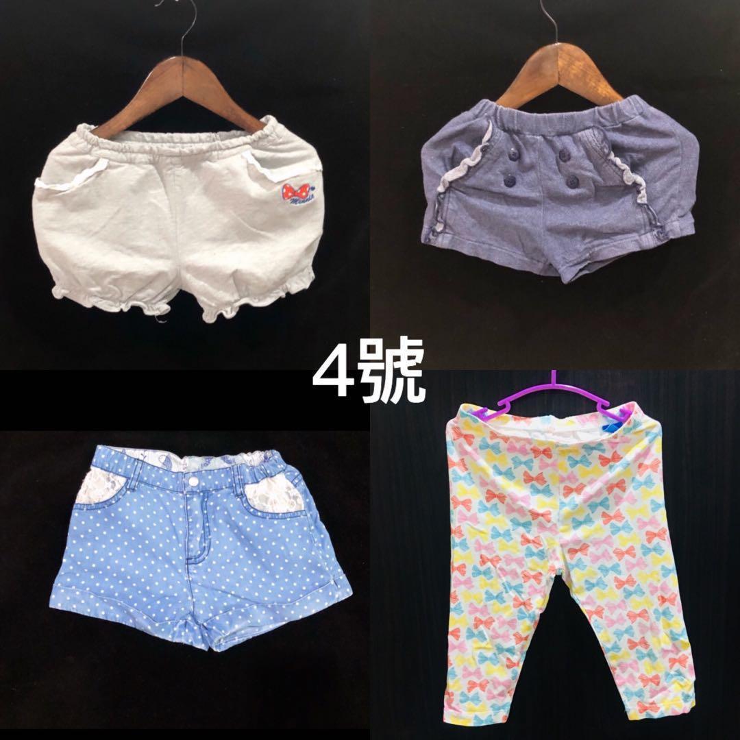 【全新二手合售】 麗嬰房 女童 短褲 迪士尼米妮短褲 薄款九分褲 4號