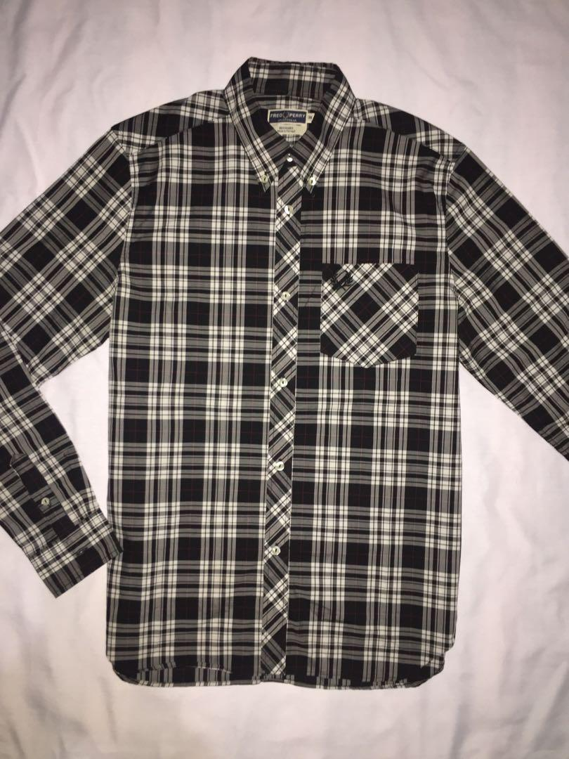 Authentic fred perry iconic reissue tartan long sleeve
