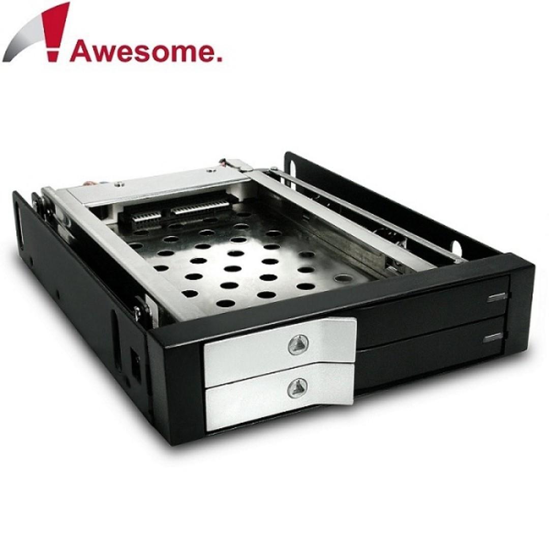 Awesome 2.5吋雙槽硬碟抽取盒-AWD-MRA258L
