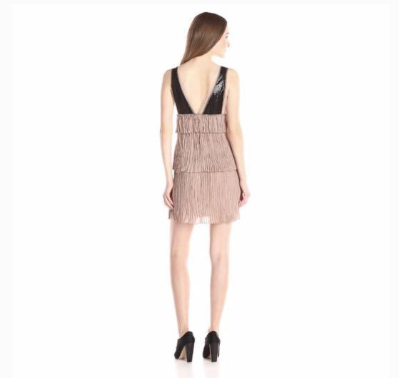 BCBG Max Azria Averil Crinkle Dress ( Size XXS loose fit)