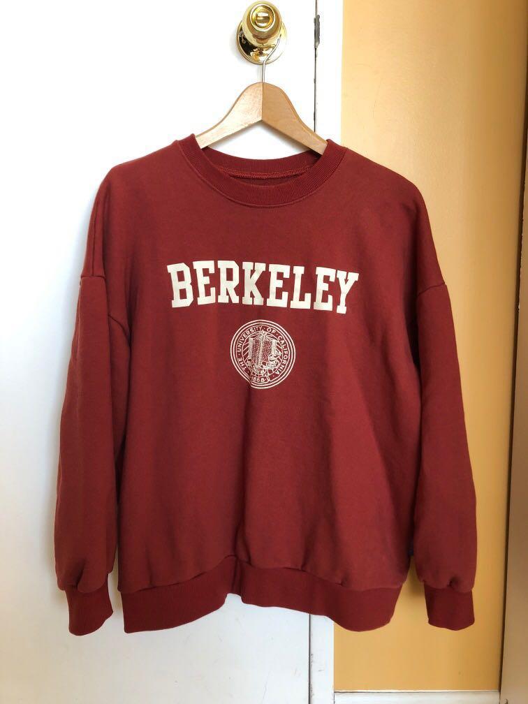 Mixxmix Berkeley university of California brick red sweatshirt