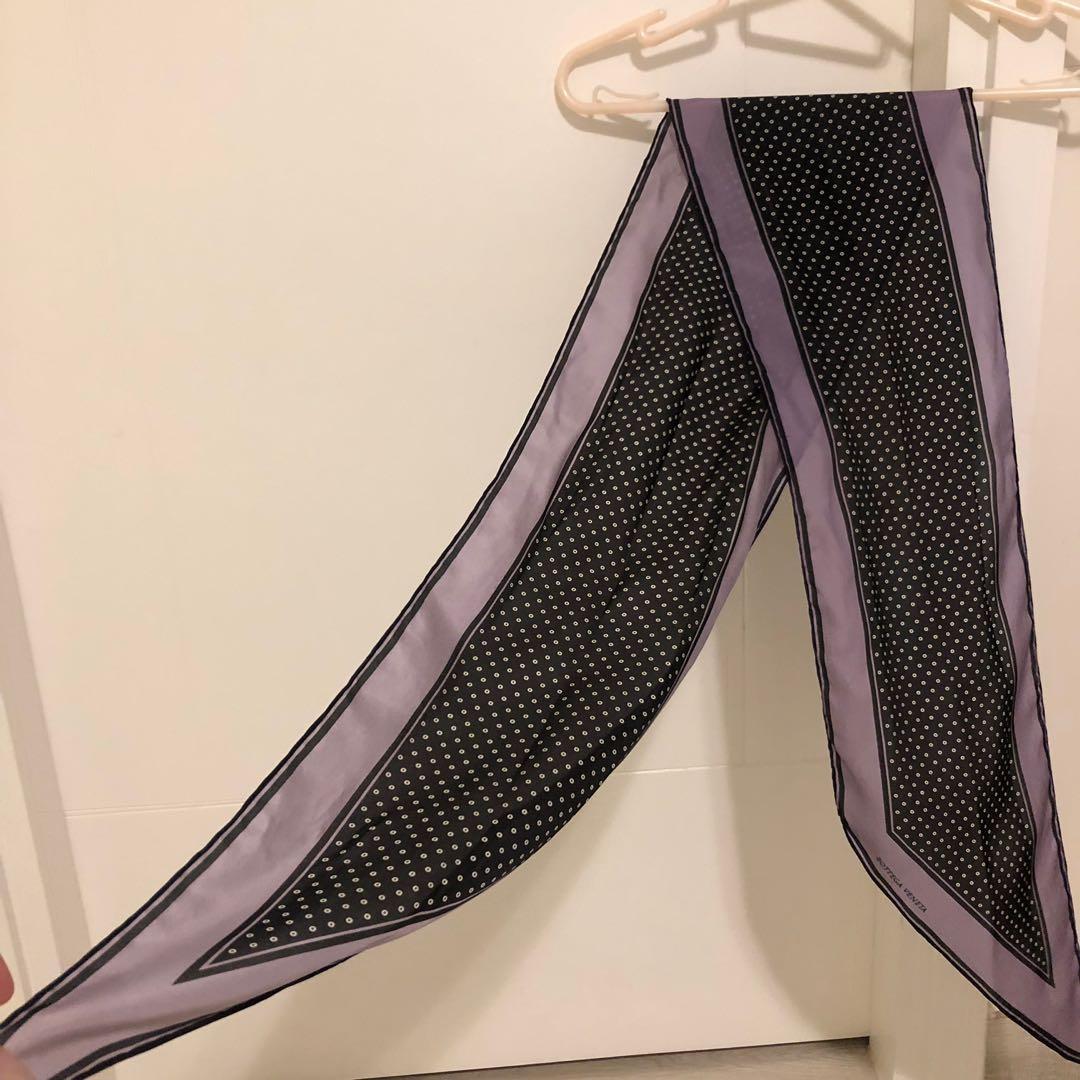 bottega veneta 紫色波點絲巾