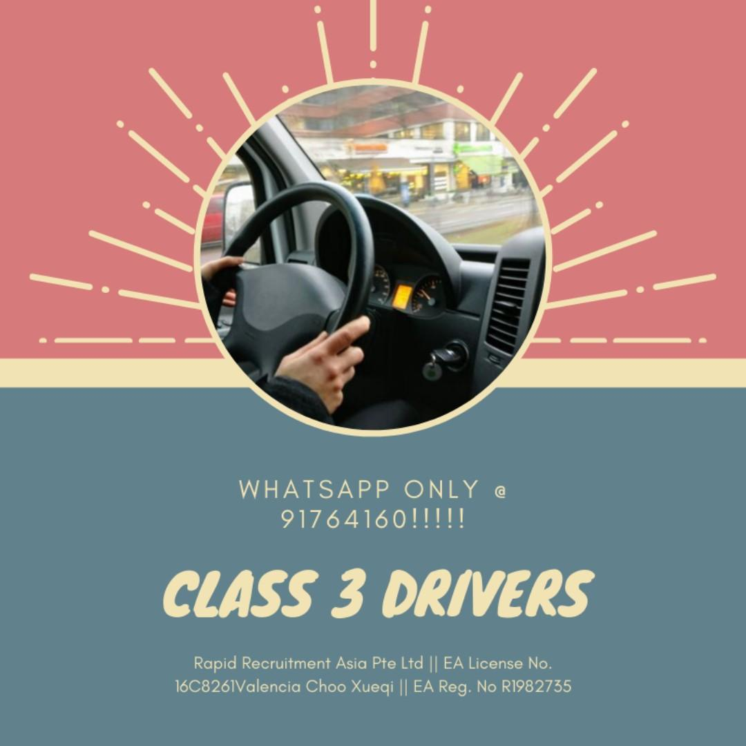 Class 3 Delivery Drivers @ Jurong