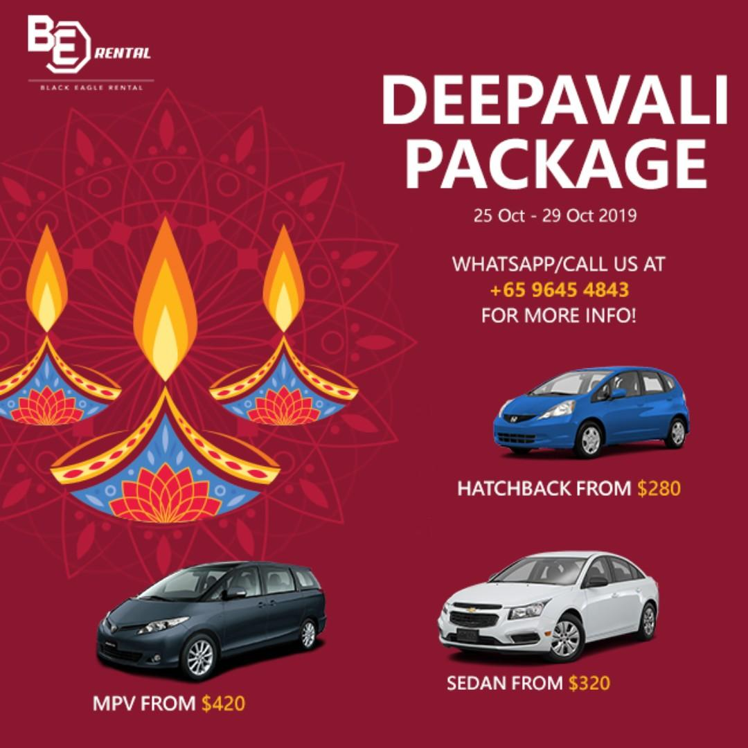 Deepavali Car Rental 4-Day Package