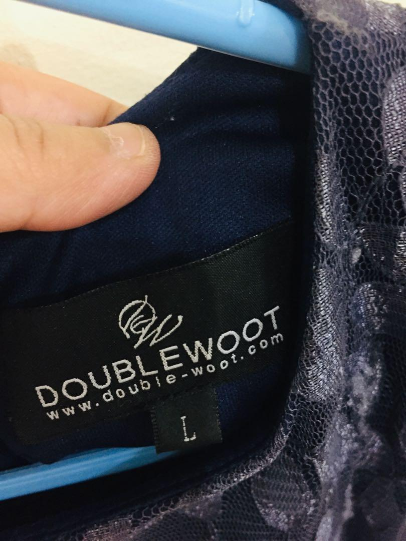 Doublewoot lace navy blue dress