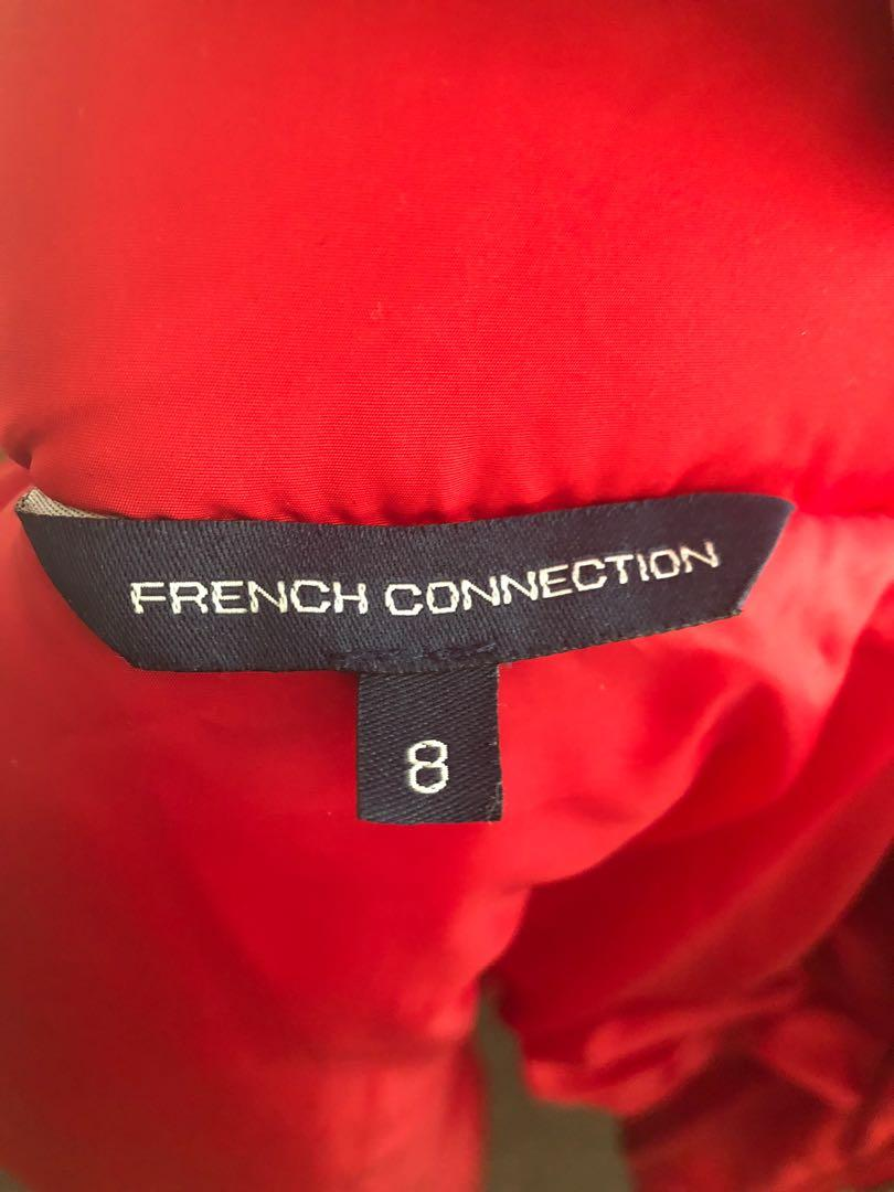 French connection red puffer jacket