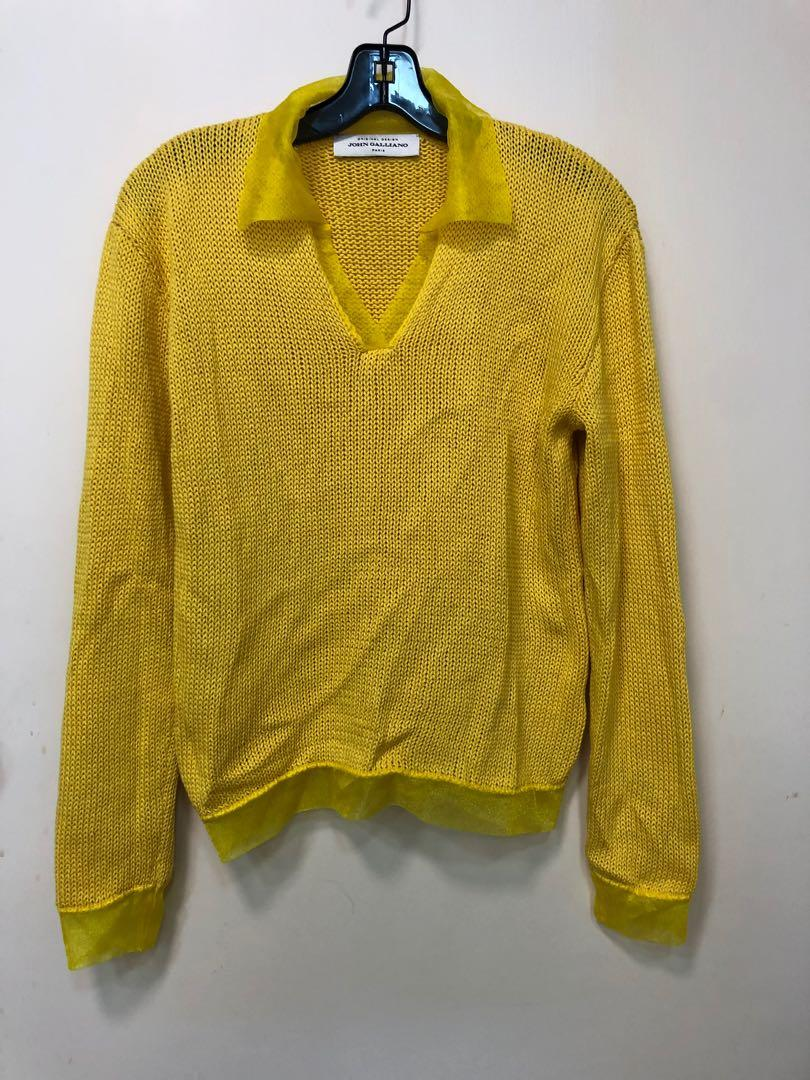 John Galliano Yellow Sweater