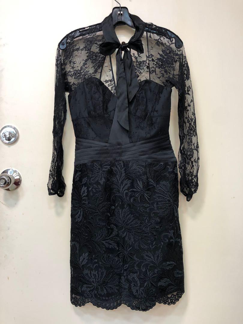 Karen Mullen black lace cocktail dress