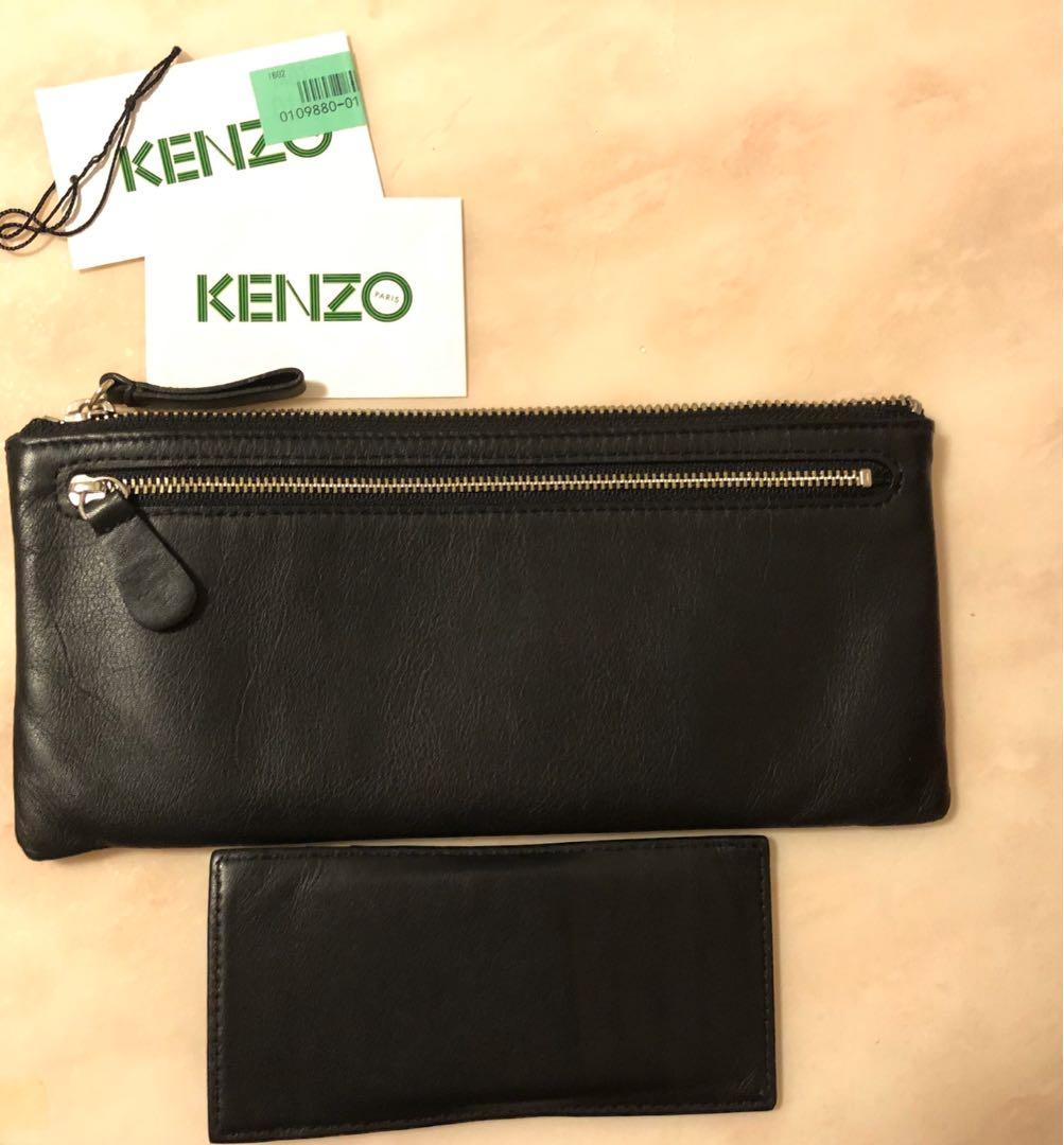 Kenzo wallet card holder pouch coins case set of two 銀色卡包咭片套