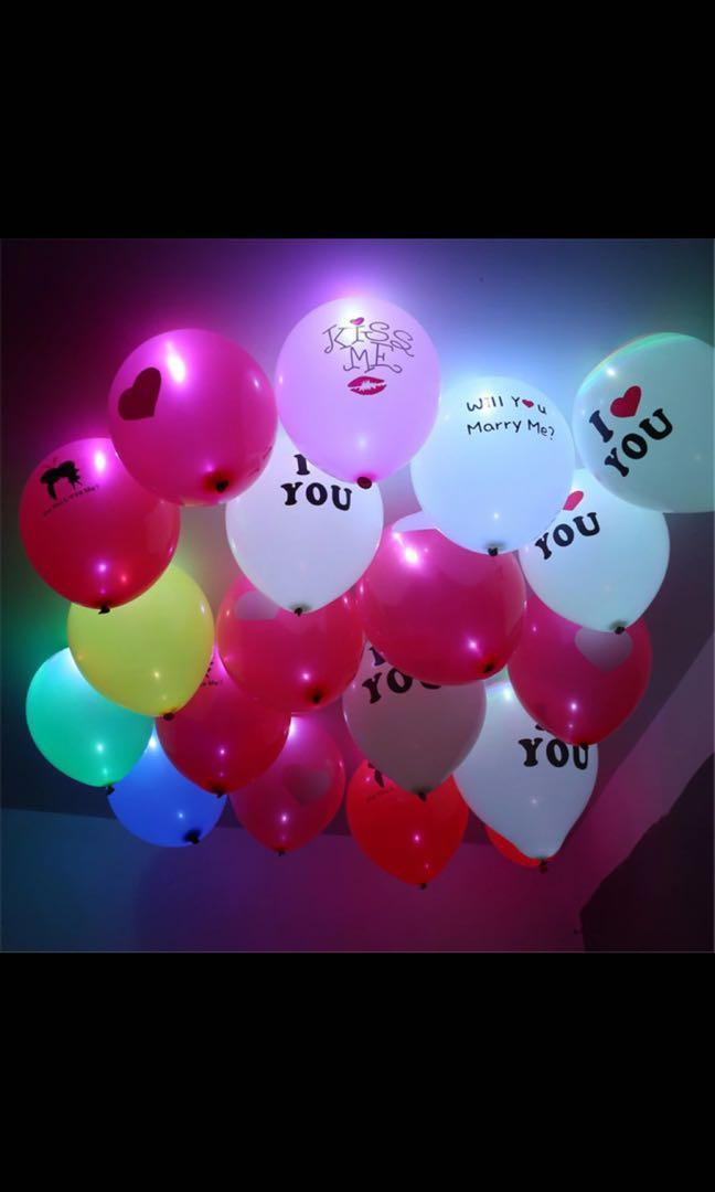 LED Helium Balloon For Parties, Wedding And Proposal! Simple to Use!