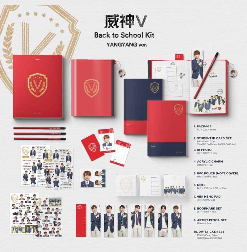 SEALED JAEHYUN VER BACK TO SCHOOL KIT NCT 127 BOOKMARK+PENCIL+ID+POUCH+STICKERS