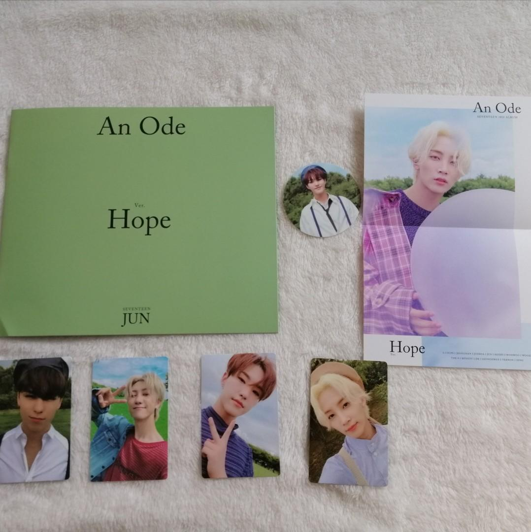 [LOOSE] SEVENTEEN 3RD ALBUM AN ODE HOPE VERSION PHOTOCARD