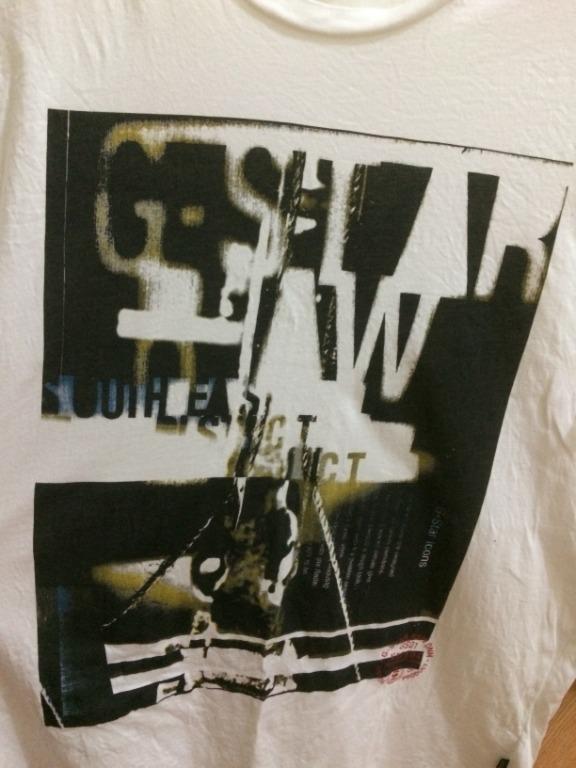 Men's G-Star Raw Denim White Tee M