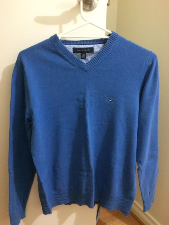Men's Tommy Hilfiger Cotton Jumper Blue S