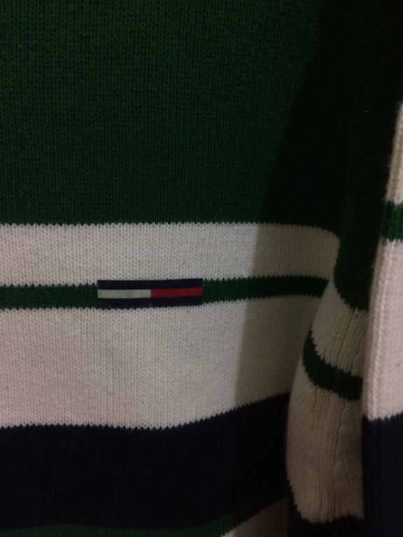 Men's Tommy Hilfiger Cotton Jumper Green L