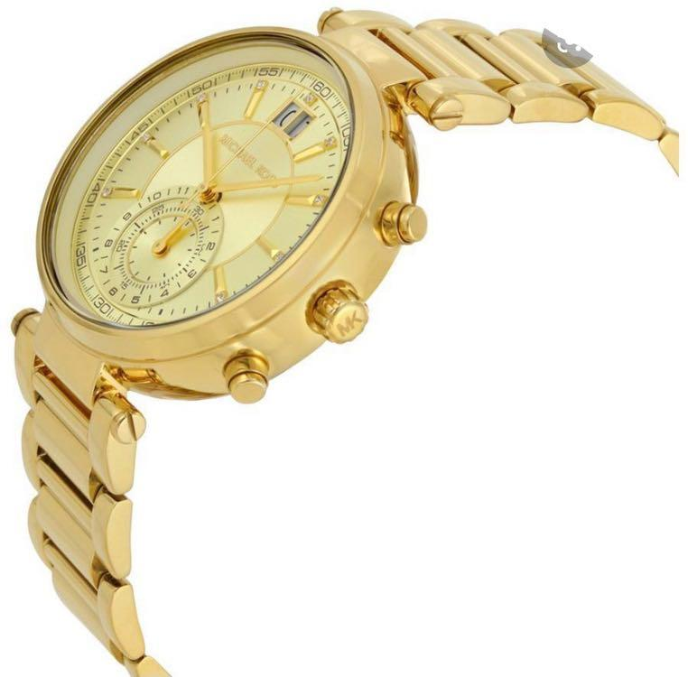 Michael Kors Sawyer Gold Tone Chronograph Watch MK6362