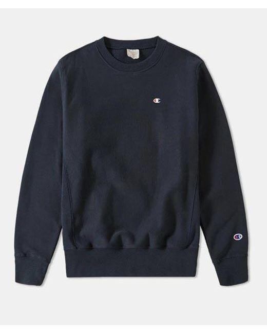 Navy Champion Sweatshirt// 衛衣