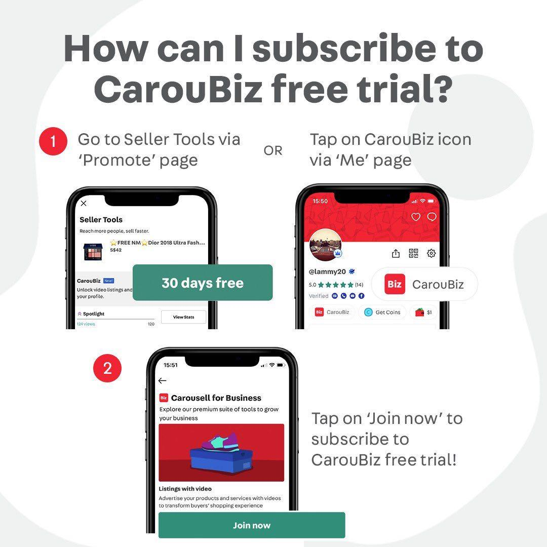 Cheaper than your MRT fare: CarouBiz (Try for 30 days free!)