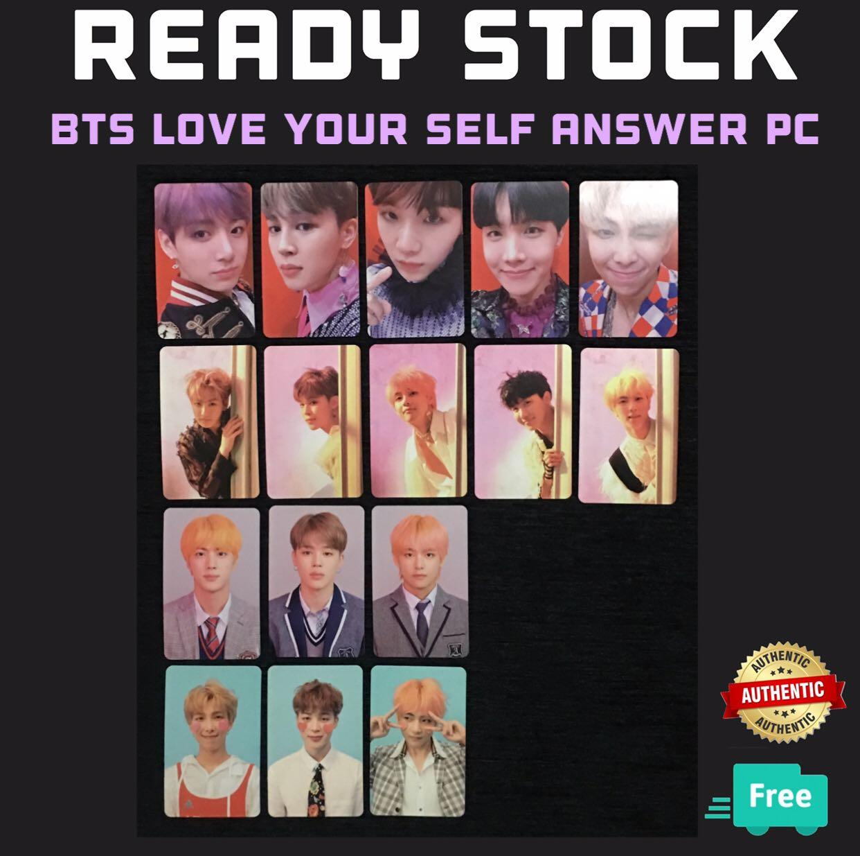 (RESTOCK) OFFICIAL BTS LOVE YOURSELF ANSWER PC PHOTOCARDS