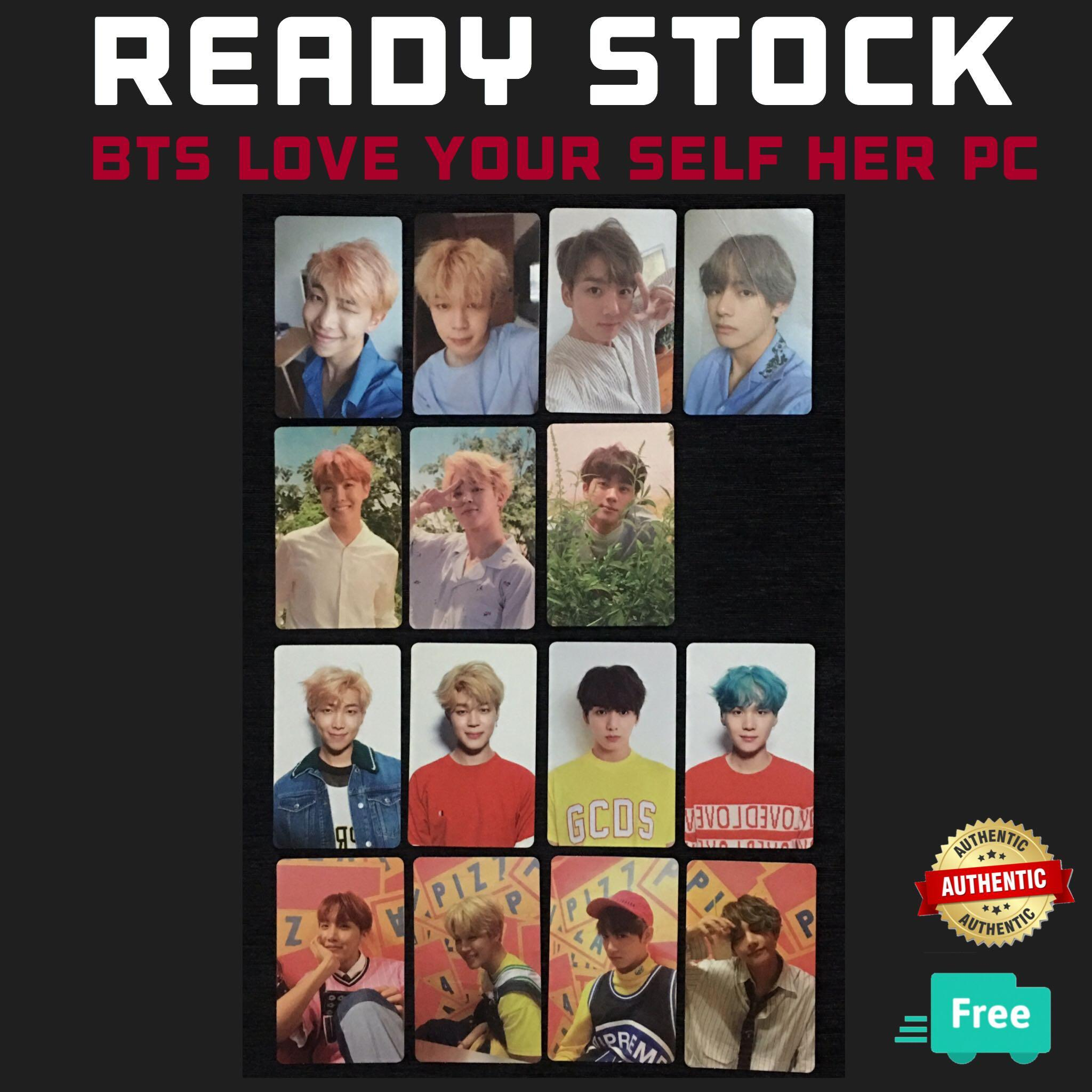 (RESTOCK) OFFICIAL BTS LOVE YOURSELF HER PC PHOTOCARDS