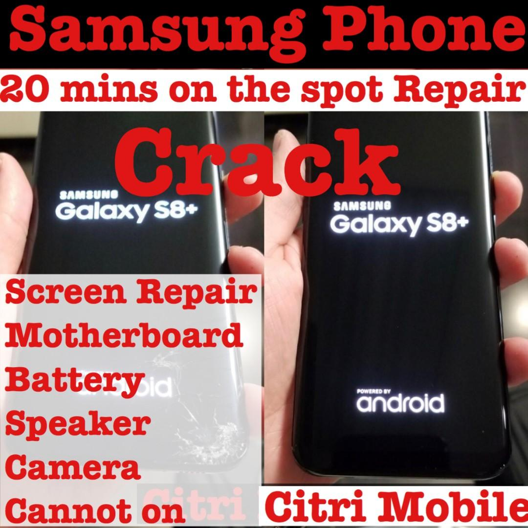 Samsung S8 S9 S10 Note 8 9 iPhone Screen LCD Battery Repair