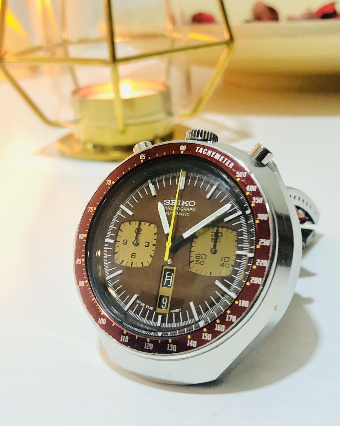 Seiko 6138 Bullhead Chronograph Rolex Speedmaster Omega Vintage Daytona Datejust Panda Diver