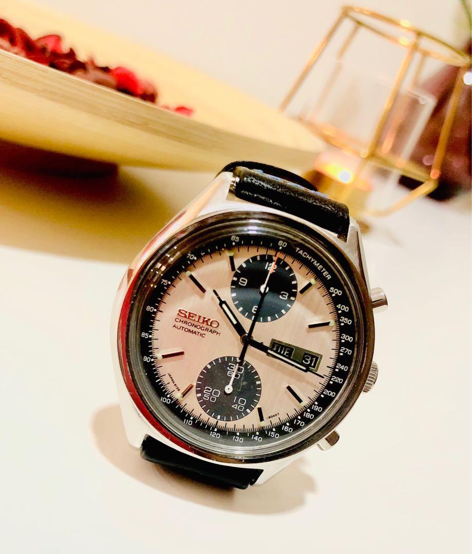 Seiko 6138 Panda Chronograph Rolex Speedmaster Omega Vintage Daytona Datejust Panda Diver