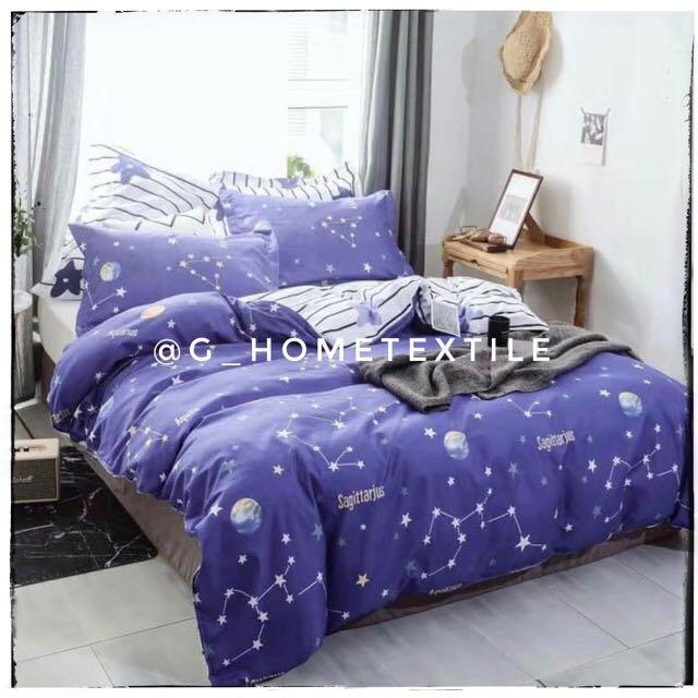 Set Cadar dan Comforters 6 in 1