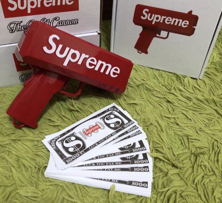 Supreme Cash cannon money gun FILA GUCCI