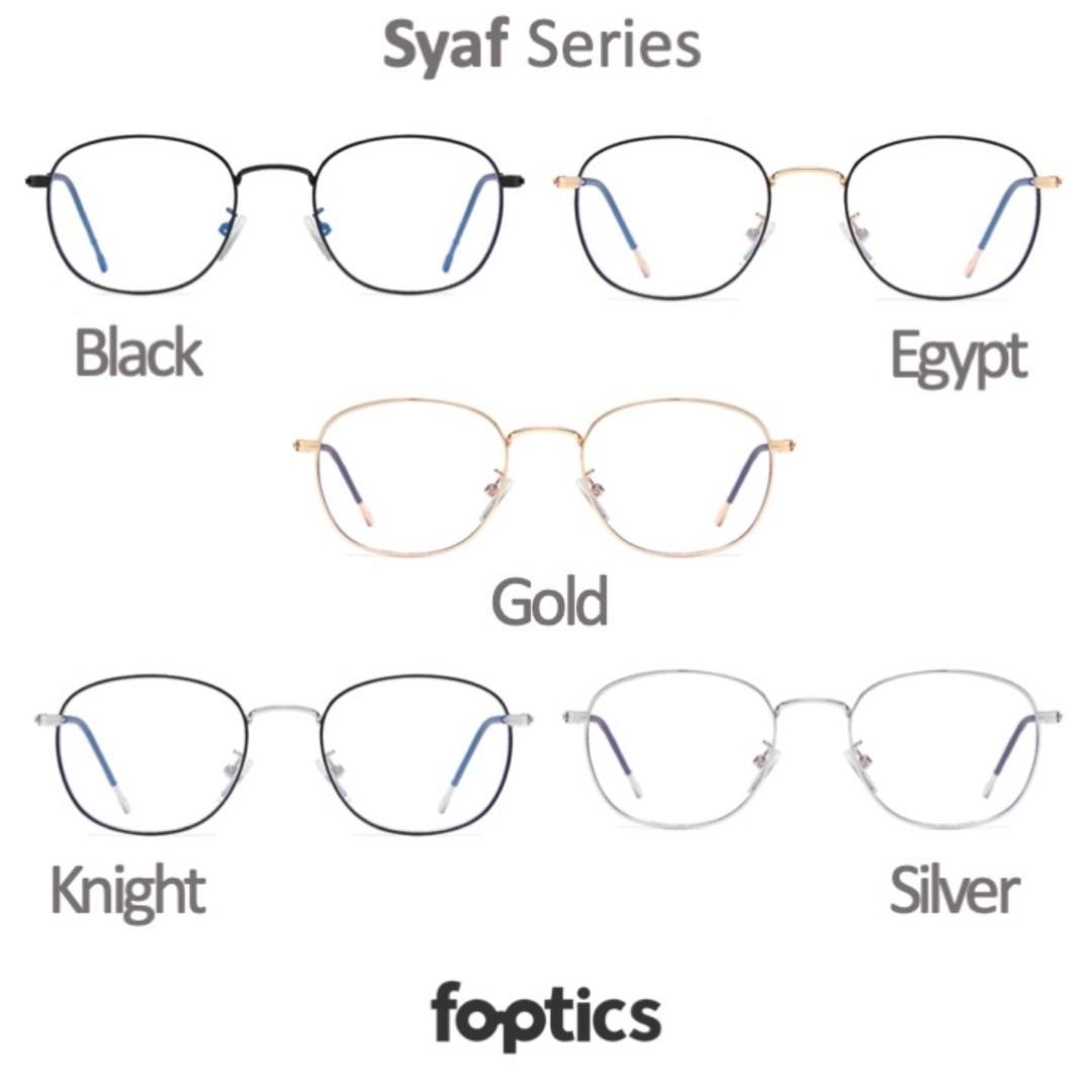 Syaf in Gold - foptics Eyewear - Prescription Glasses in Singapore
