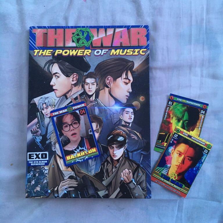 [TITIPAN] BUNDLE/PAKET EXO ALBUM UNIVERSE & THE WAR BONUS MAGAZINE