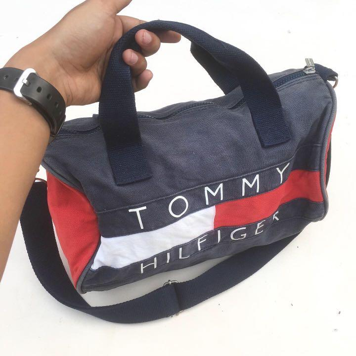tommy cotton duffle