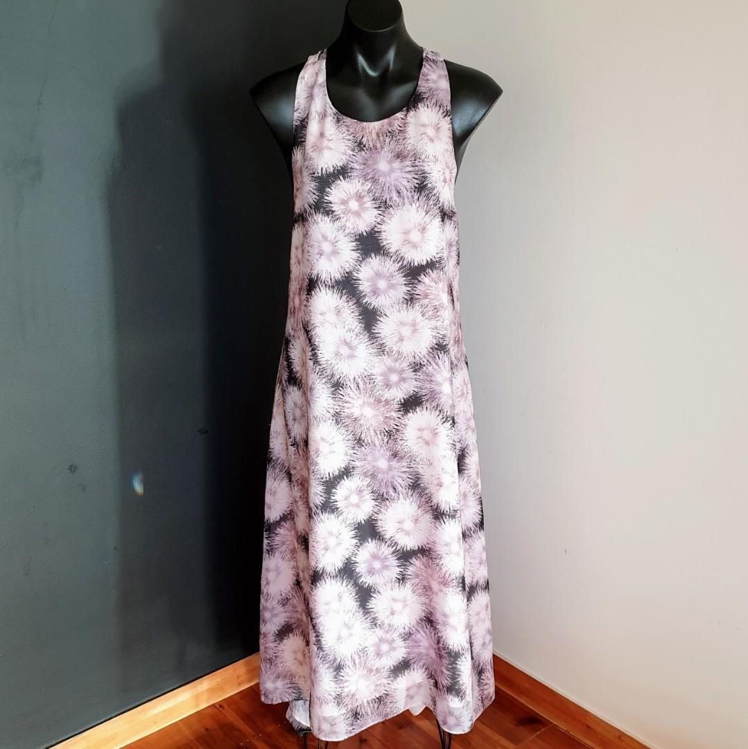 Women's size 12 'PIPER' Gorgeous multicoloured racerback maxi dress - AS NEW