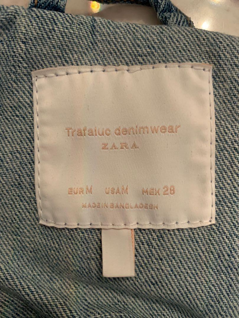 ZARA Distressed Denim Jacket