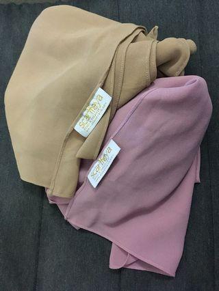Combo Shawls Scarfeyya- Brown n dusty pink