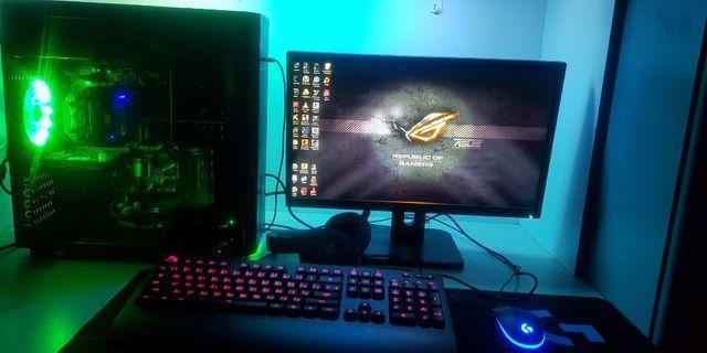 Destop Pc Gaming  I7 4800 3.80GHz cpu + minitor 24 inch