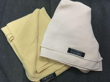 Combo shawls- lubaina yellow n cream