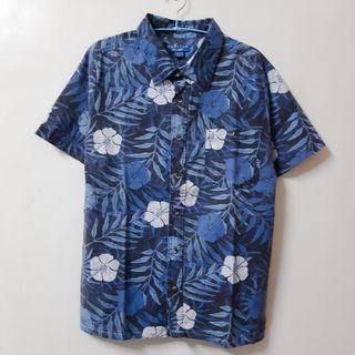 Regalo古著∣Puritan 藍色憂鬱星期一棉質花襯衫 短袖襯衫