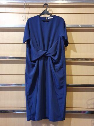 SOPHIA ALICE Blue Front Twist Dress