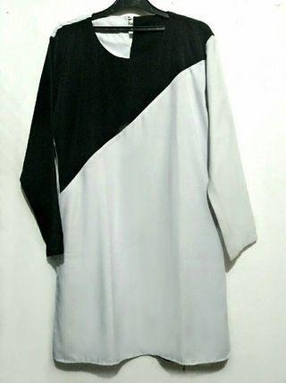Tunik hitam putih