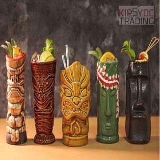 COCKTAIL CERAMIC TIKI BAR 3D CUP MUG GLASS