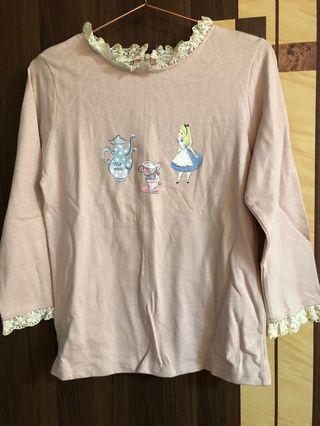 愛麗絲藕粉色蕾絲上衣