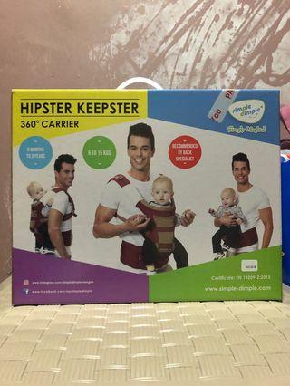 Simple Dimple x Hipster Keepster 360 Hip Seat Baby Carrier