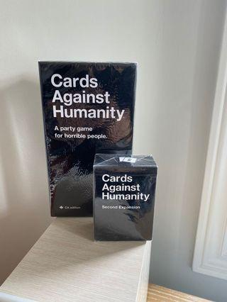 Cards Against Humanity +second expansion UNOPENED