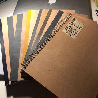 New muji notebooks 7x lined 1x art