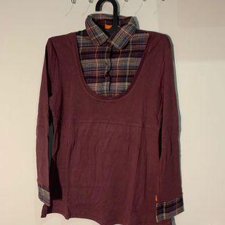 Dual Burgundy Shirt