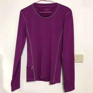出清-僅試穿近全新女性運動長袖上衣 有口袋 XS號 紫色