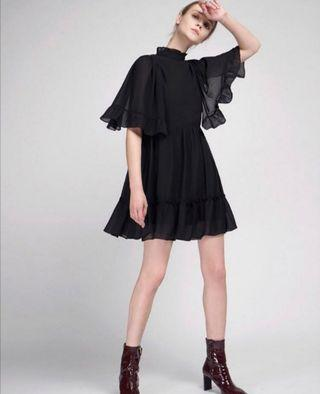 BNWT the Saturday Club black frill dress