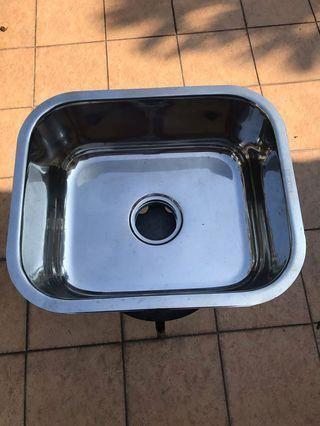 Single stainless steel sink bowl